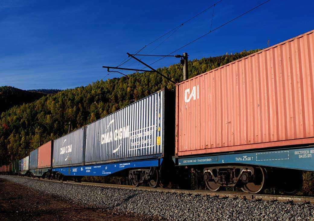 Железнодорожный контейнер картинка
